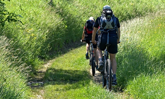 The mountain biking routes